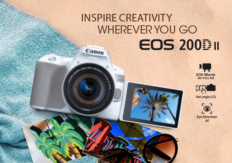 Interchangeable Lens Cameras - EOS 200D II (EF-S 18-55mm f/4-5 6 IS