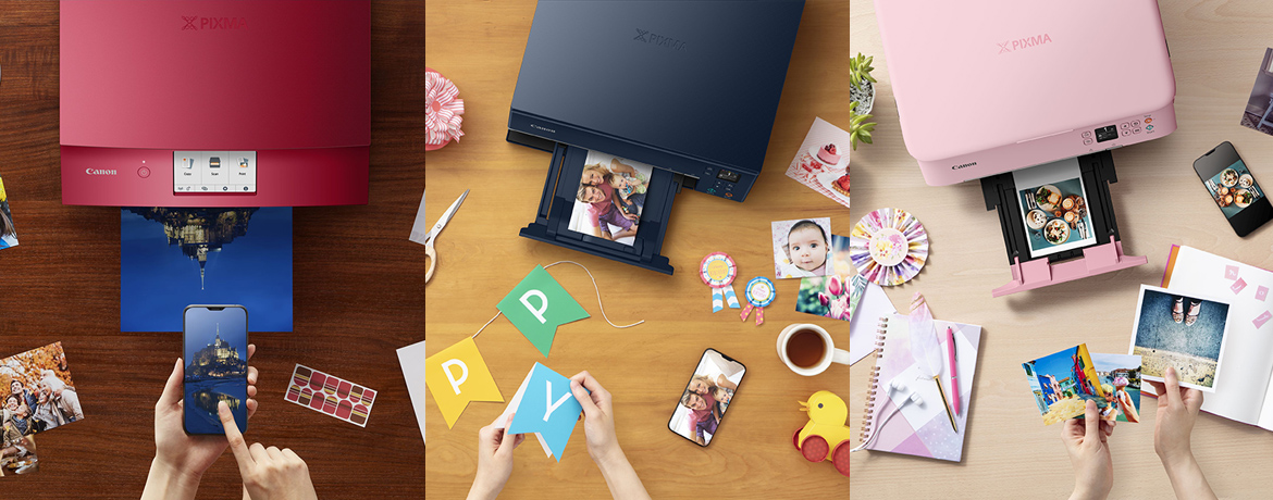 Canon Unveils New Printers with an Explosion of Spontaneous Colours and New Printing Options to Turn Homes and Home Offices into Creative Print Houses