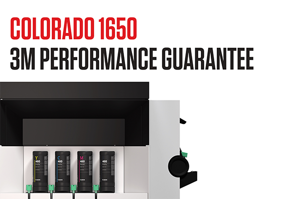 Colorado 1650 UVgel 460 Ink Receives 3M Performance Guarantee Certification