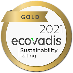 Gold Rating from EcoVadis