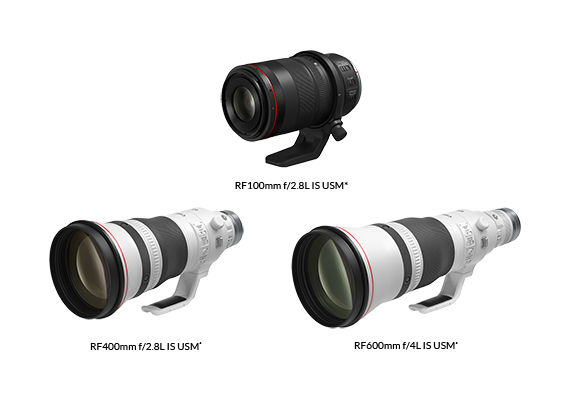 New Medium and Super Telephoto RF Prime L Lenses