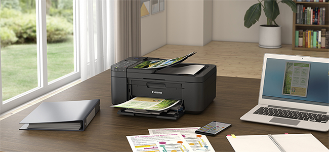 Complete The Home Office Set Up with The Compact PIXMA TR4670S Multi-function Printer with Low-cost Ink Cartridges